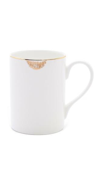 Gift Boutique Reiko Kaneko Lip Tease Mug - White/Gold