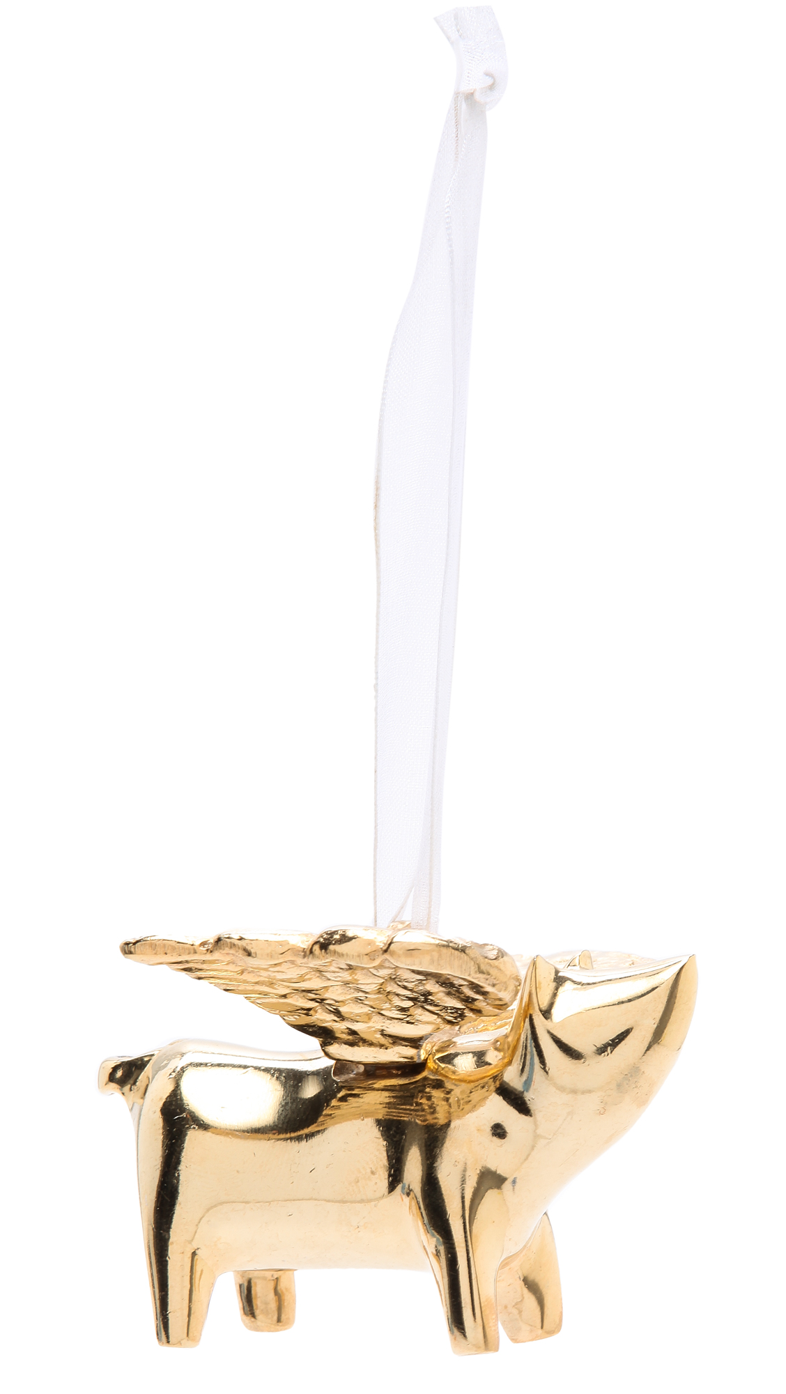 Golden Flying Pig Ornament