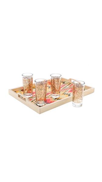 Gift Boutique Zuzu Flame Tray & Glass Set
