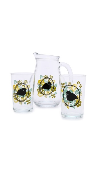 Gift Boutique Mrs. & Mr. Songbird Pitcher Set