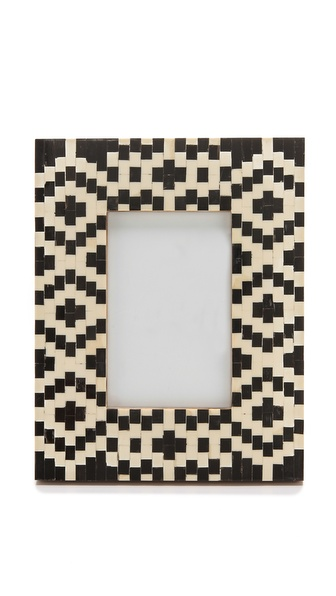 Gift Boutique Geometric Inlay Picure Frame - Black