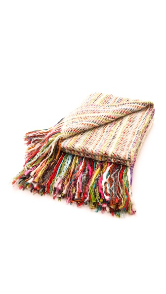 Gift Boutique Courchevel Throw Blanket - Multi
