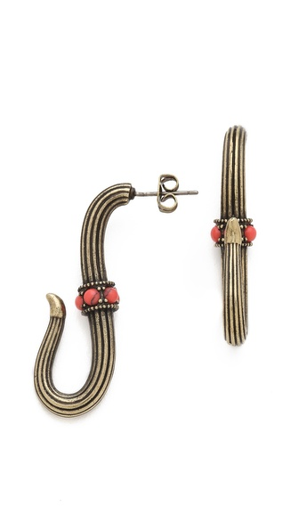 Giles & Brother Serpent Hook Earrings