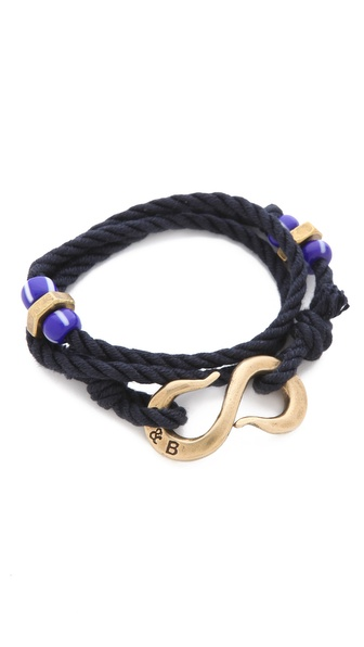 Giles & Brother Double Wrap S Hook Bracelet