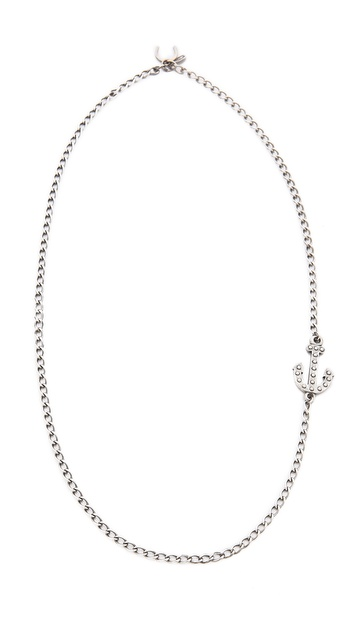Giles & Brother Embedded Anchor Necklace
