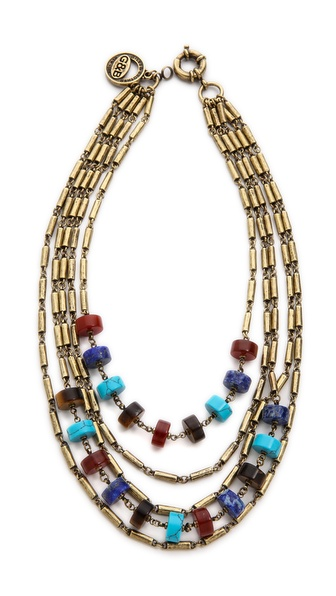 Giles & Brother Multi Color Stone Bundle Necklace