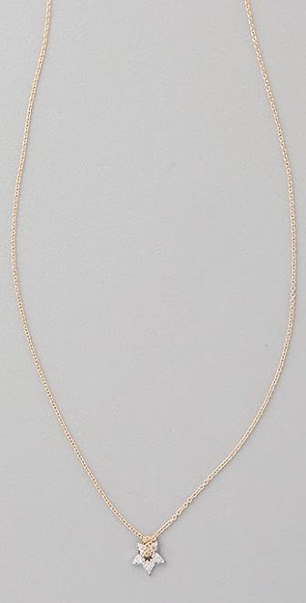 ginette_ny Tiny Diamond Star Necklace