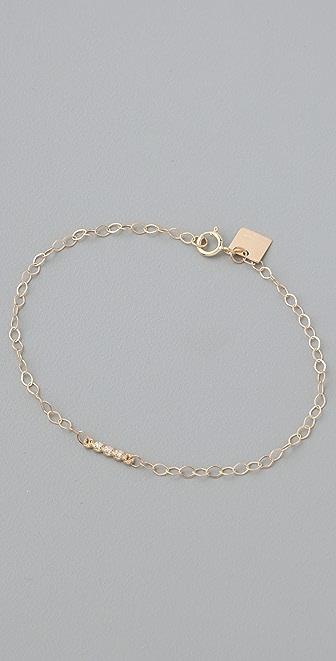ginette_ny Diamond Strip Chain Bracelet