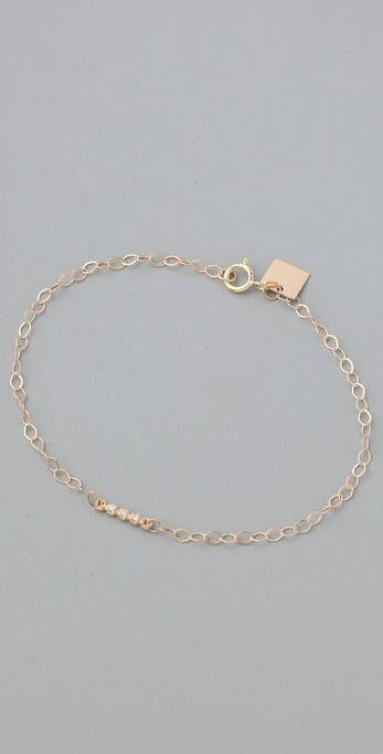 ginette_ny Diamond Strip Chain Bracelet