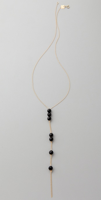 ginette_ny Cadiz Seven Beads Onyx Necklace