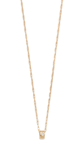 ginette_ny Mini Tube & Diamond Necklace