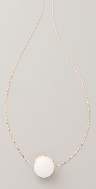 ginette_ny White Agate Ball Necklace