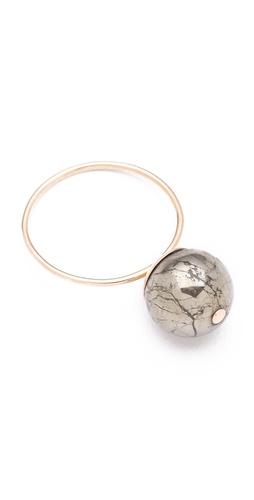 ginette_ny Fool's Gold Medium Bead Ring