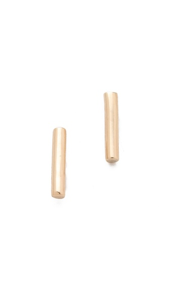 ginette_ny Gold Strip Stud Earrings