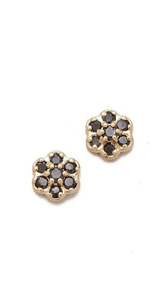 ginette_ny Mini Lotus Stud Earrings