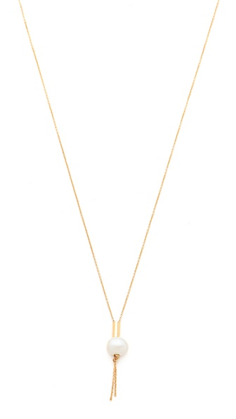 ginette_ny Chain Necklace with Cultured Freshwater Pearls
