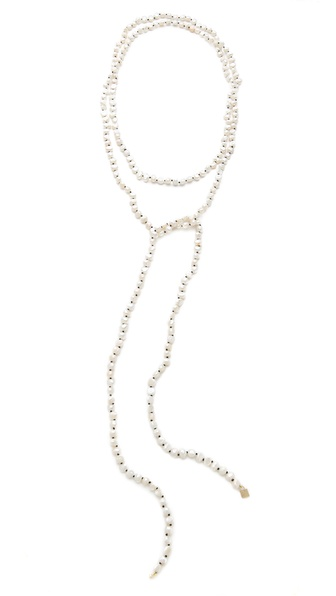ginette_ny Sautoir Necklace with Cultured Freshwater Pearls