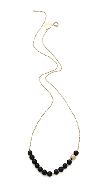 ginette_ny Black Moon Boulier Necklace with Onyx