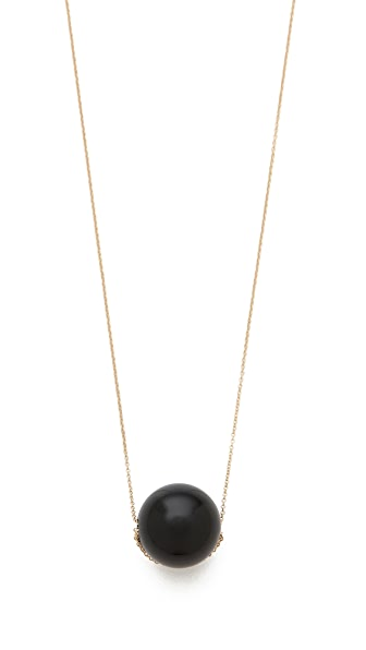 ginette_ny Black Moon Onyx Necklace