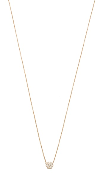 ginette_ny Mini Diamond Lotus Necklace