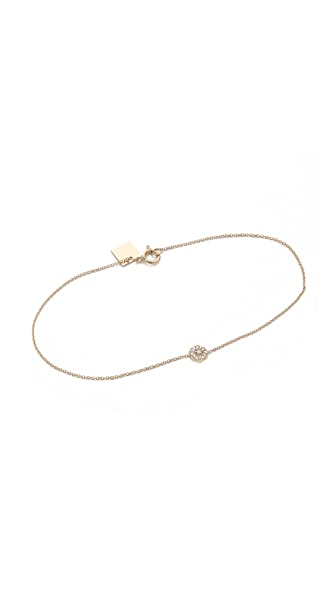 ginette_ny Mini Diamond Lotus Bracelet