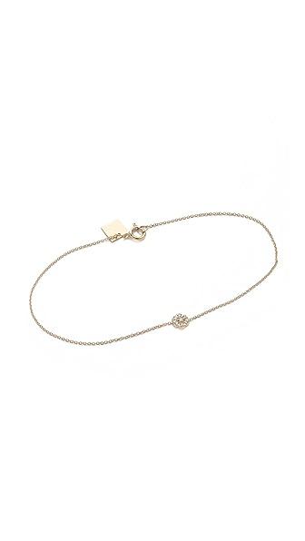 ginette_ny Mini Diamond Lotus Bracelet