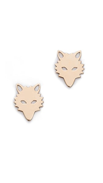 ginette_ny Wolf Stud Earrings
