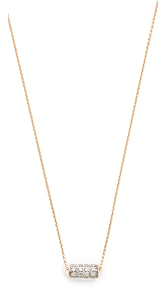 ginette_ny Mini Straw Diamond Necklace