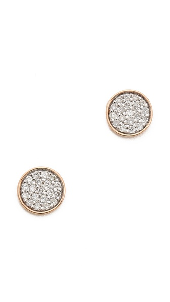 ginette_ny Round Sequin Diamond Stud Earrings