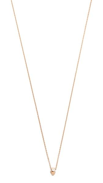 ginette_ny Mini Tube & Diamond Necklace