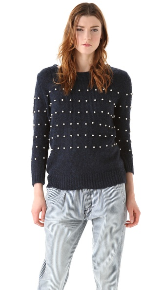 Girl. by Band of Outsiders Boat Neck Pullover Sweater