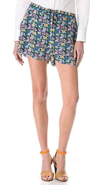 Girl. by Band of Outsiders Mini Blossom Crinkle Shorts