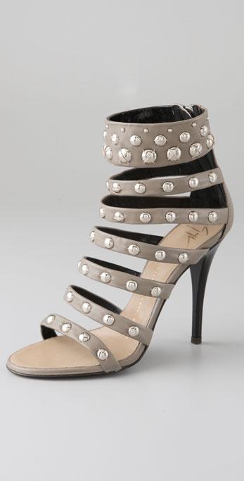Giuseppe Zanotti Strappy Studded Sandals