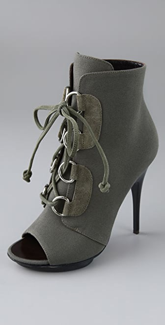 Giuseppe Zanotti Lace Up Open Toe Booties
