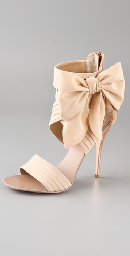 Giuseppe Zanotti Chiffon Bow High Heel Sandals from shopbop.com