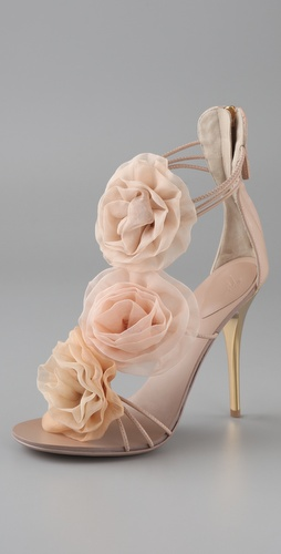 Giuseppe Zanotti Chiffon Rosette Sandals
