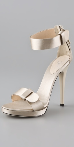 Giuseppe Zanotti Satin High Heel Sandals