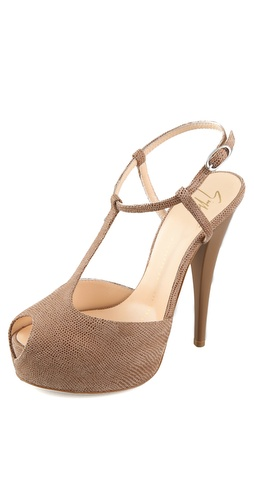 Giuseppe Zanotti Peep Toe T Strap Pumps at Shopbop.com