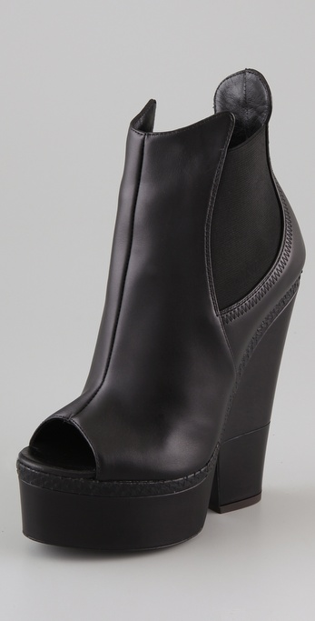 Giuseppe Zanotti Open Toe Cutout Wedge Booties