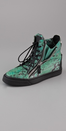 Giuseppe Zanotti Print Snake Sneakers