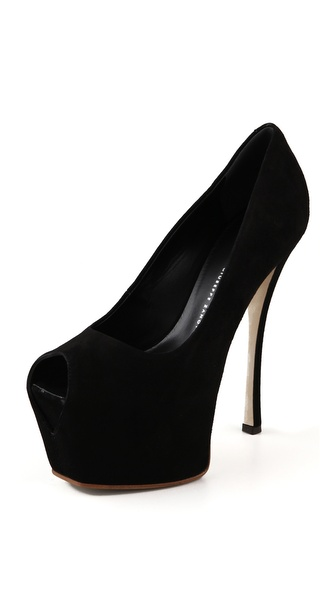 Giuseppe Zanotti Platform Suede Pumps