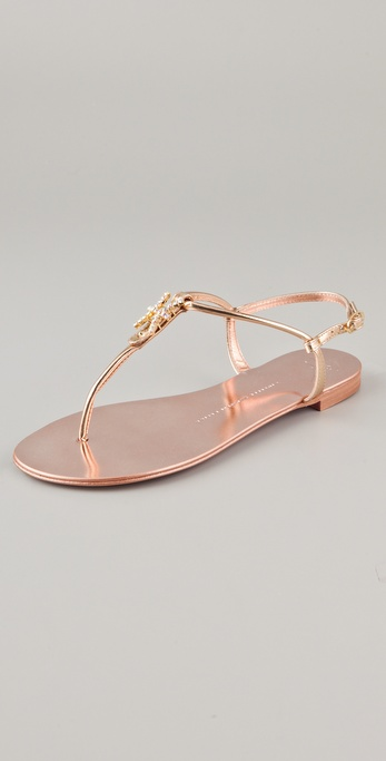 Giuseppe Zanotti Zodiac Collection Flat Sandals