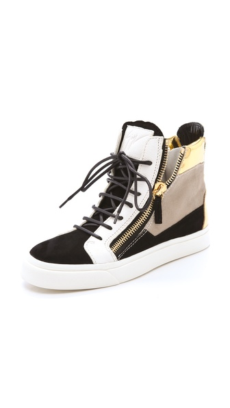 Giuseppe Zanotti Double Zip Laceup Sneakers
