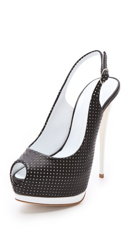 Shop Giuseppe Zanotti Sharon Perforated Pumps and Giuseppe Zanotti online - Footwear,Womens,Footwear,Pumps_(Heels), online Store