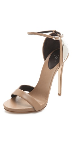 Shop Giuseppe Zanotti Ankle Strap Sandals with Metal Detail and Giuseppe Zanotti online - Footwear,Womens,Footwear,Sandals, online Store