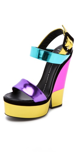Giuseppe Zanotti Colorblock Sandals