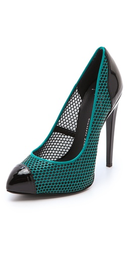 Shop Giuseppe Zanotti Netted Leather Pumps and Giuseppe Zanotti online - Footwear,Womens,Footwear,Pumps_(Heels), online Store