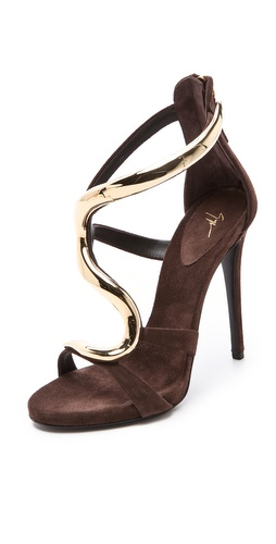 Shop Giuseppe Zanotti Alien Hinged Sandals - Giuseppe Zanotti online - Footwear,Womens,Footwear,Sandals, at Lilychic Australian Clothes Online Store