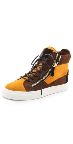 Shop Giuseppe Zanotti Double Zip Sneakers and Giuseppe Zanotti online - Footwear,Womens,Footwear,Sneakers, online Store