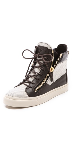 Giuseppe Zanotti Double Zipper Sneakers at Shopbop.com